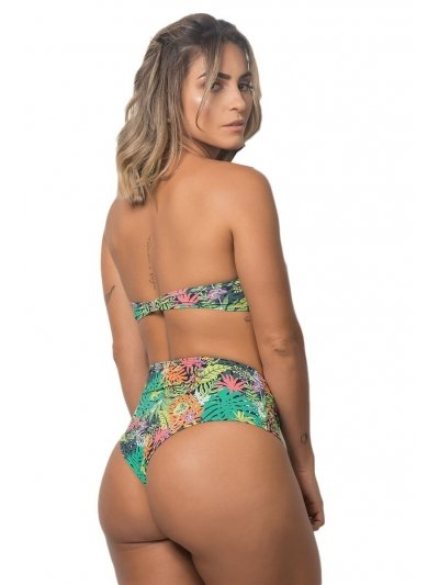 Biquíni Hot Pant Estampa Tropicali