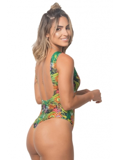 Maiô Body Lobelo Estampa Tropicali